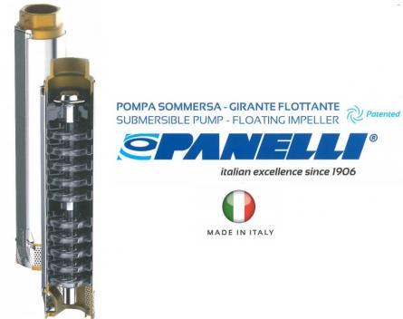 Pompa submersibila trifazata Panelli 95 PR10 N15 cu convertizor de turatie trifazic profesional cu frecventa variabila HydroController HCA TT Standard 15A 5kw