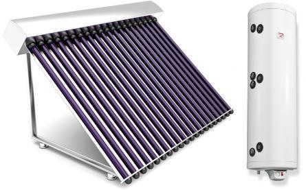 Sistem complet  panouri solare tuburi vidate 3 persoane varianta TVIB-2S-150