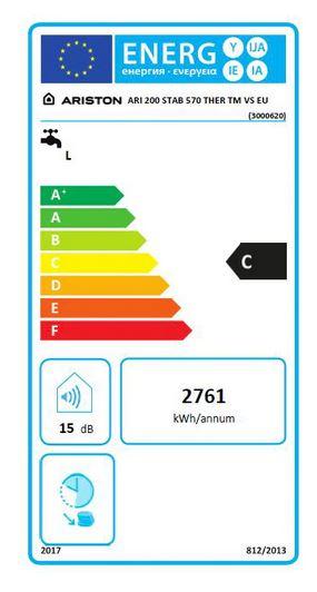 Boiler electric Ariston ARI 200 STAB 570 THER MO VS EU, 3000 W, 200 l, 8 bar, protectie IP25D, rezervor interior emailat cu titan fornello imagine