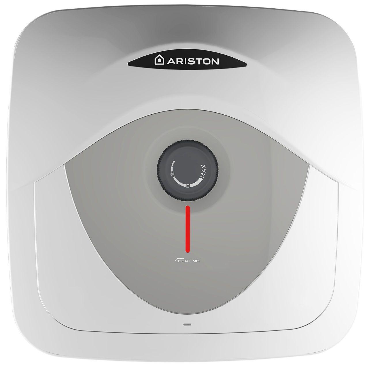 Boiler electric Ariston Andris RS 10 EU, 10 l, 1200 W, Led iluminat, Protectie electrica IPX1, Montare deasupra chiuvetei, Reglaj extern de temperatura
