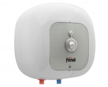 Boiler electric Ferroli Cubo SG 15, 1500 W, 15 l, Termostat reglabil, Protectie electrica IPx4, Montare deasupra chiuvetei fornello imagine