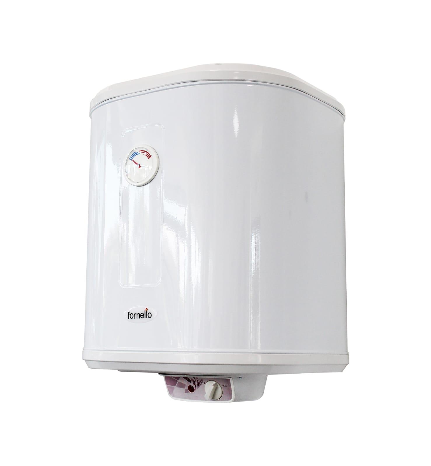 Boiler electric Fornello Prismatic 50 litri, 1500 watt, reglaj extern al temperaturii, emailat cu titan, cablu, stecher , supapa de siguranta imagine fornello.ro