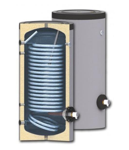 Boiler pentru sisteme cu termopompe Sunsystem SWP N 400 litri, cu o serpentina, pentru conectarea la sisteme solare, de incalzire si sisteme cu pompe de caldura cu multi consumatori imagine fornello.ro