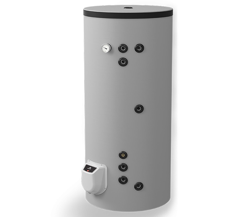 Boiler termoelectric cu doua serpentine Eldom FV30067S21, 9000 W, 300 l, montaj pe sol, 0.8 Mpa imagine fornello.ro