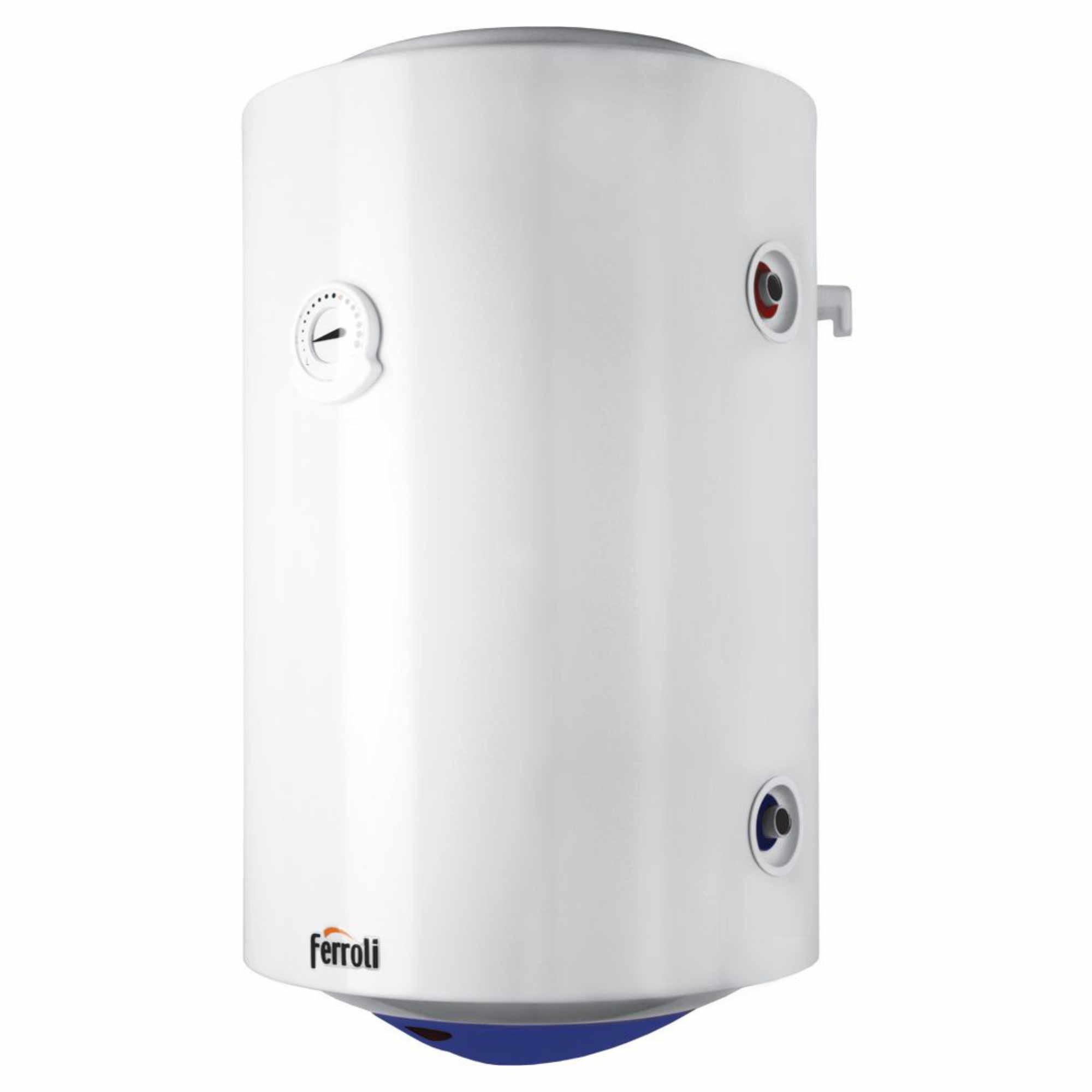 Boiler termoelectric cu serpentina Ferroli Calypso 100 VEMT, 100 l, 1500 W, 0.8 Mpa imagine fornello.ro
