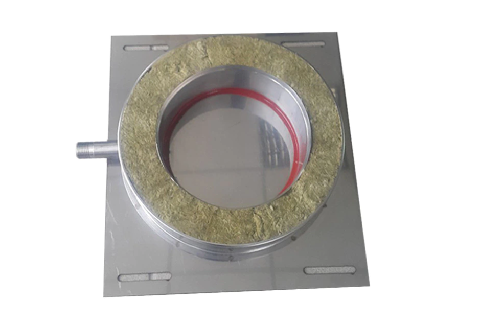 Capac condensatie baza compatibil doar cu elemente de cos inox Fornello, dublu perete inox-inox, izolatie din vata bazaltica 40 mm, diametru interior 200 mm, pentru centrale pe lemn, carbune si peleti