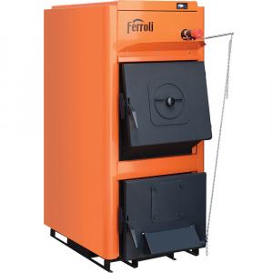 Cazan termic pe brichete, tocatura, Ferroli FSB Pro N 30, cu ardere normala, din otel, 30 kW imagine fornello.ro