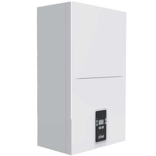 Centrala Ferroli Bluehelix ALPHA 24 C 20 kW Incalzire, 25 kW Apa calda, panou comanda digital, Kit evacuare gaze inclus fornello imagine