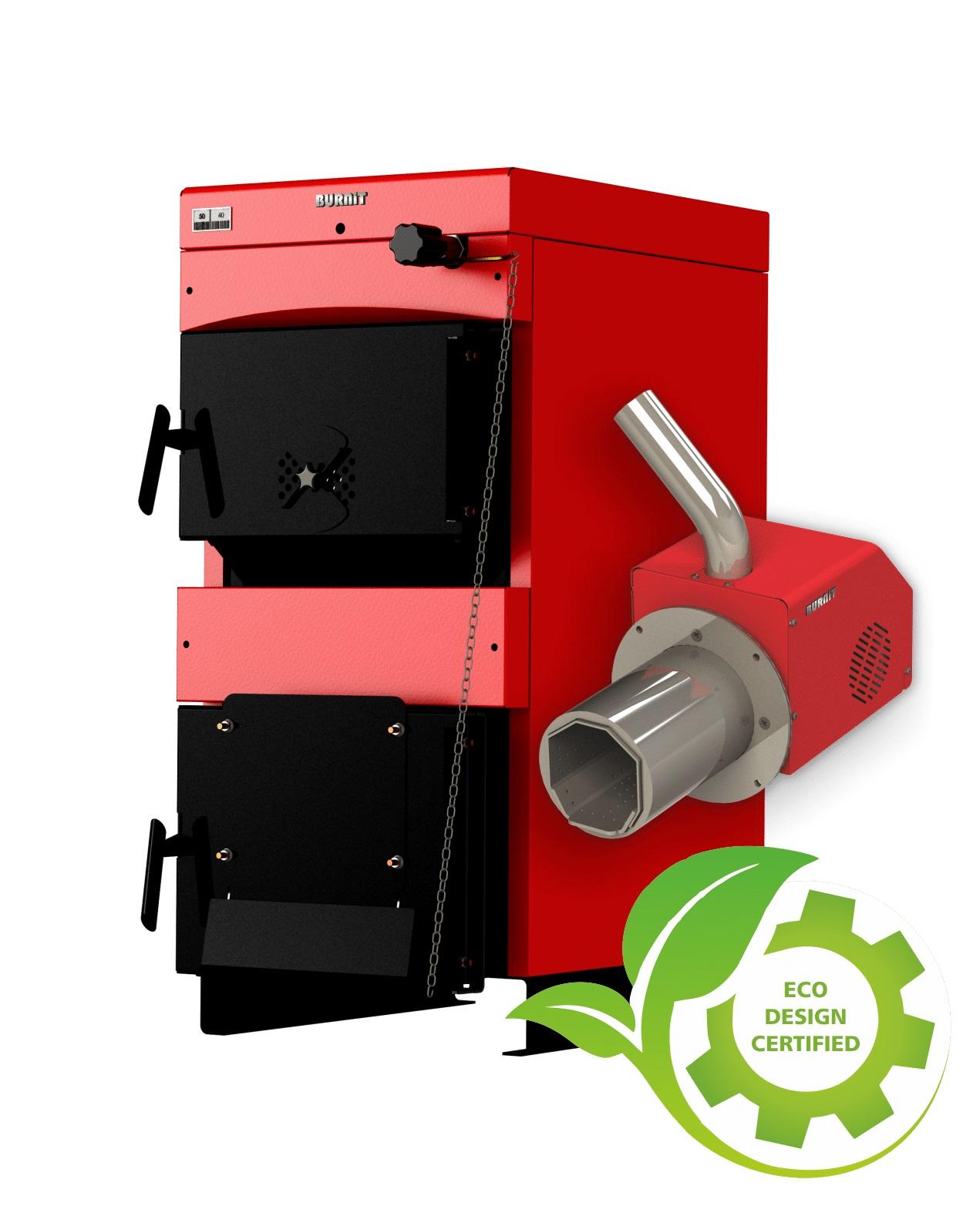 Centrala mixta lemn si peleti Burnit WBS 40 kW si Arzator pe peleti Pell Eco 35 kW imagine fornello.ro