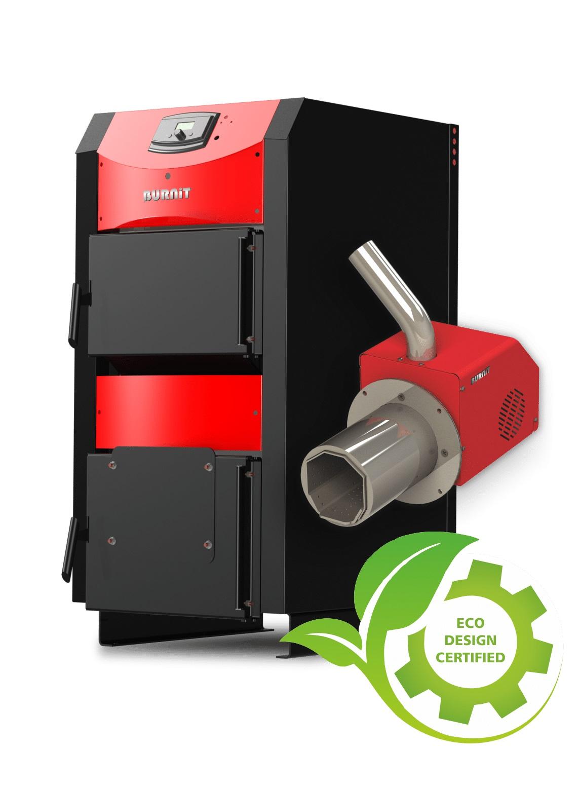 Centrala mixta lemn si peleti Burnit WBS AC 40 kW si Arzator pe peleti Pell Eco 35 kW imagine fornello.ro