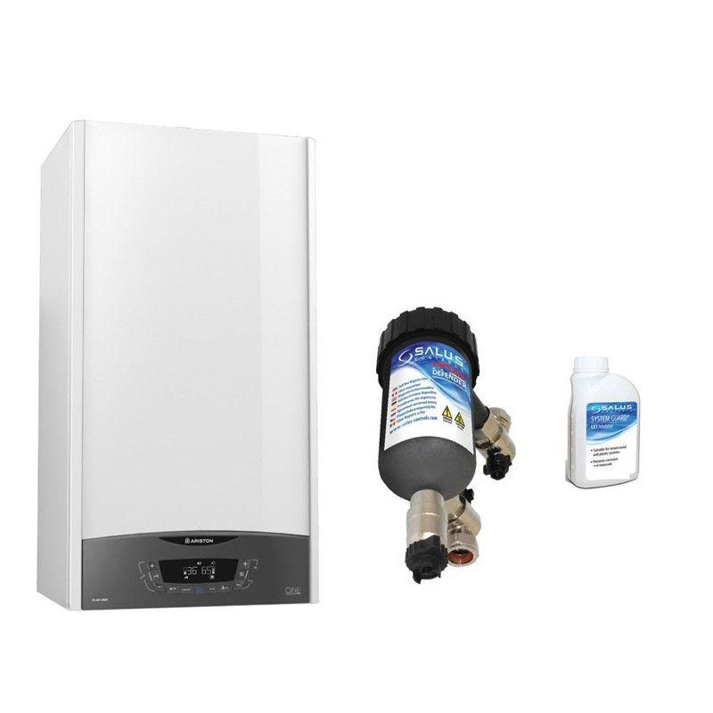 Centrala termica in condensare Ariston Clas One 24 EU 24 KW, kit evacuare si filtru antimagnetita Salus MD22A incluse pentru o protectie sporita imagine fornello.ro