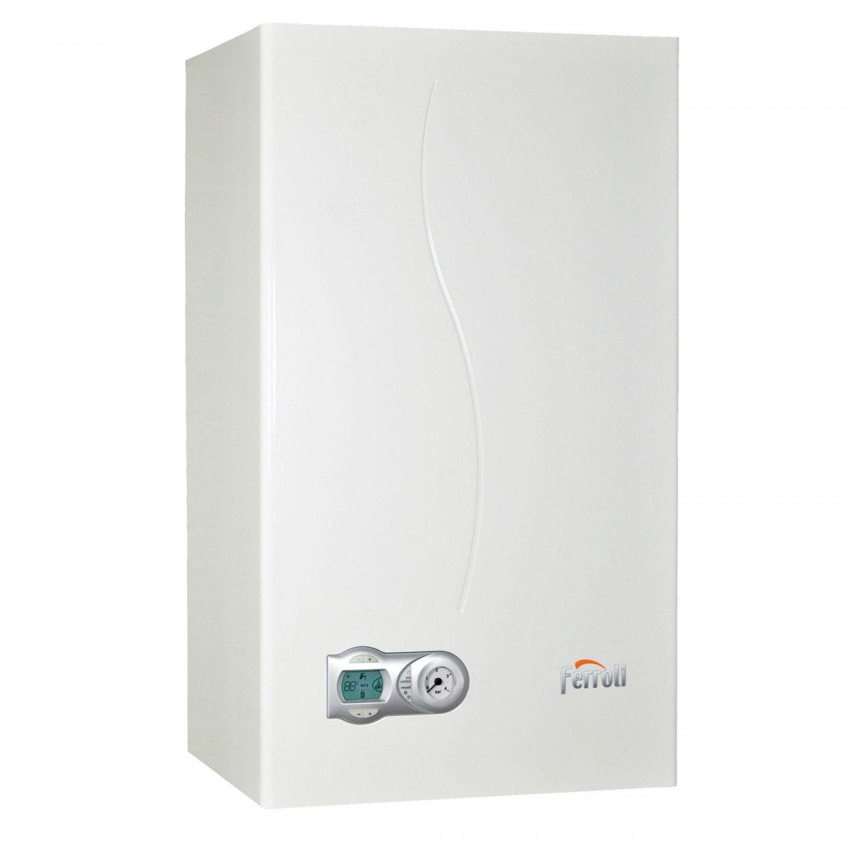 Centrala termica in condensare Ferroli DivaCondens F24 E, Gaz, Tiraj fortat, 24 kW, Doua schimbatoare de caldura imagine fornello.ro