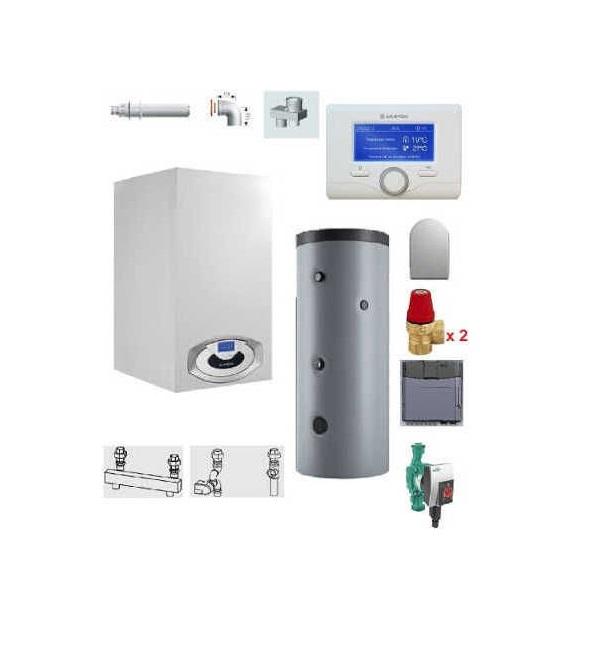 Centrala termica in condensare Genus Premium HP Evo 115 cu boiler Maxis CD1 800L imagine fornello.ro