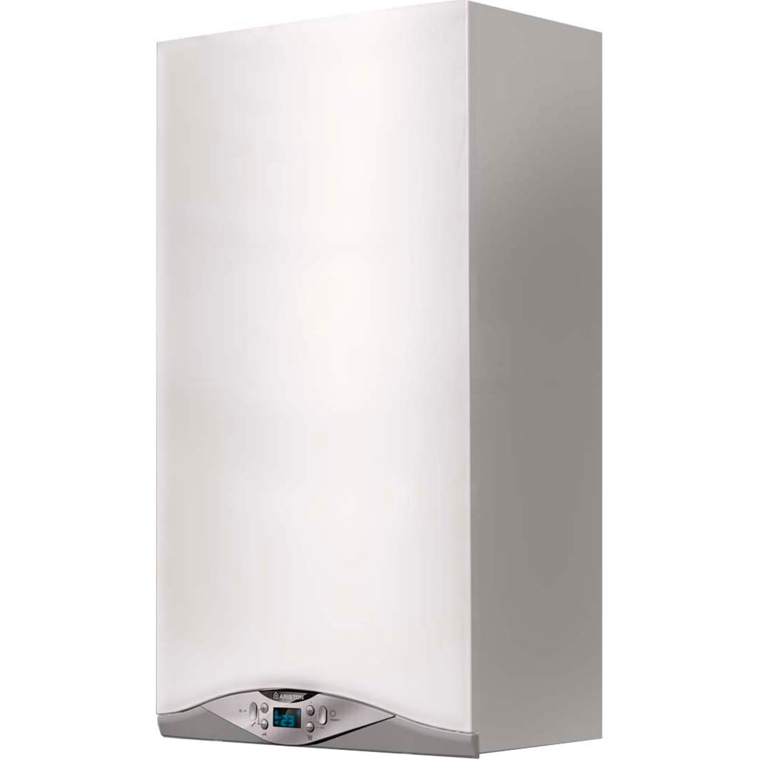 Centrala termica murala in condensare Ariston Cares Premium 24 EU, Gaz, Tiraj fortat, 24 kW, Doua schimbatoare de caldura, Display digital imagine fornello.ro