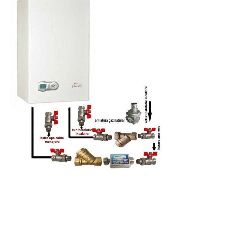 Pachet baza Centrala termica in condensare Ferroli Diva Condens F 24 E kw + pachet instalare centrala termica fornello imagine