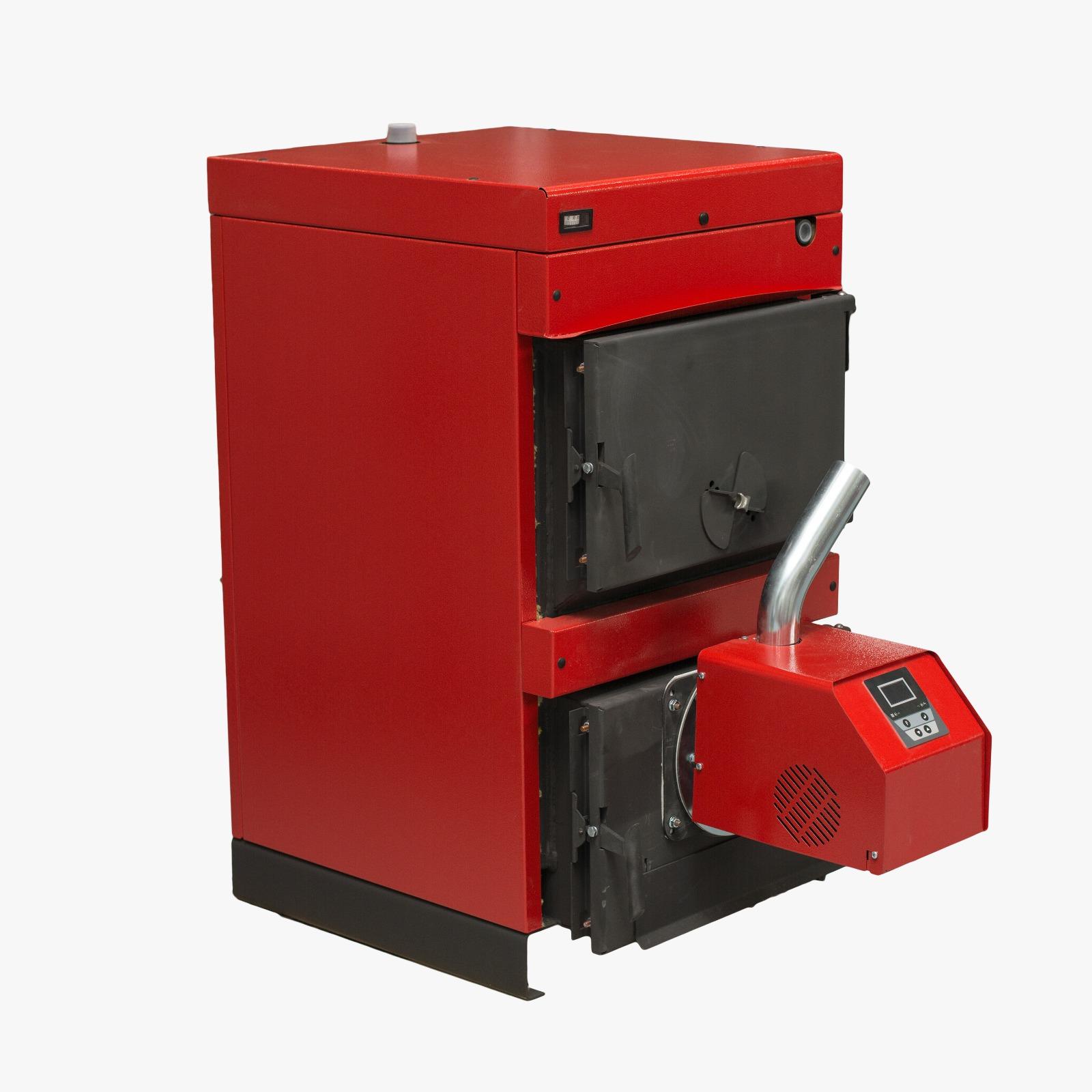 Pachet centrala mixta lemn si peleti Sunsystem Burnit WBS 70 KW cu arzator Peleti Pell Eco 70 kw, snec, aprindere automata imagine fornello.ro