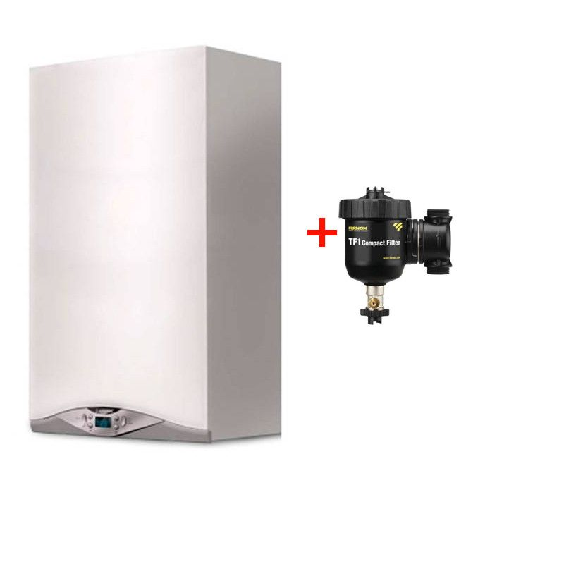 Pachet centrala termica Ariston CARES PREMIUM 24 EU 24 KW + filtru antimagnetita Fernox TF1 Compact fornello imagine