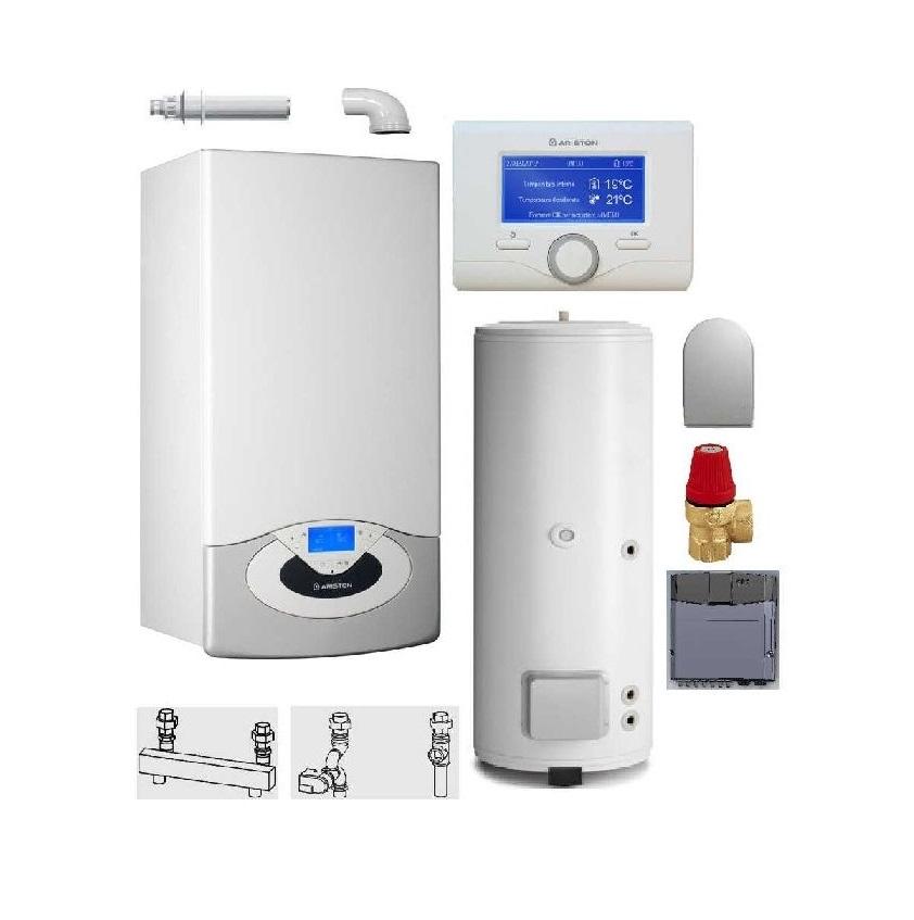 Pachet Centrala termica in condensare Genus Premium HP Evo 45 cu boiler BC1S 300 L imagine fornello.ro