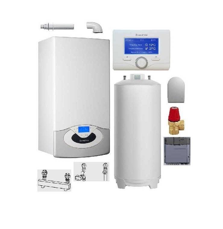 Pachet Centrala termica in condensare Genus Premium HP Evo 65 cu boiler BCH 200 L imagine fornello.ro