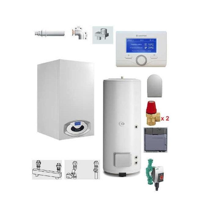 Pachet Centrala termica in condensare Genus Premium HP Evo 100 cu boiler BC1S 450 L imagine fornello.ro
