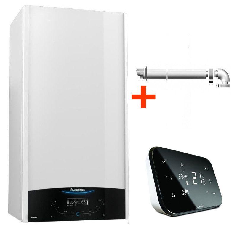Pachet control inteligent de la distanta Centrala termica in condensare Ariston Genus One 30 EU 30 kW + termostat cu control prin internet Salus IT500 fornello imagine