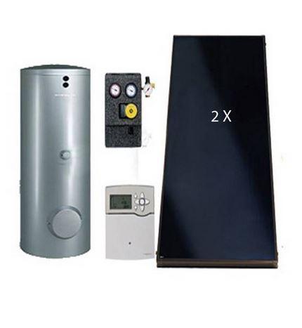 Pachet panouri solare Viessmann Vitosol 200-FM cu boiler bivalent Vitocell 100-B de 300 litri SK06097 fornello imagine