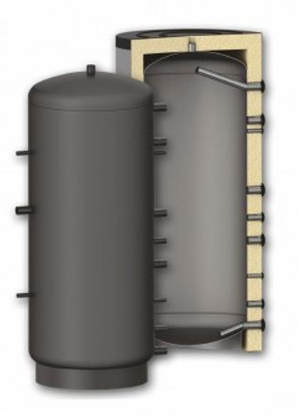 Puffer - Rezervor de acumulare agent termic izolat Fornello P 1000 cu izolatie din poliuretan de 10 cm, capacitate 1000 litri, fara serpentina, presiune de lucru 3 bar imagine fornello.ro