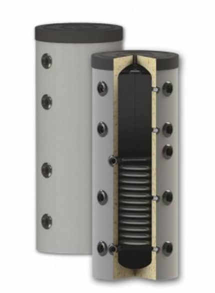 Rezervor de acumulare puffer pentru agent termic, cu o serpentina PS1 150L imagine fornello.ro