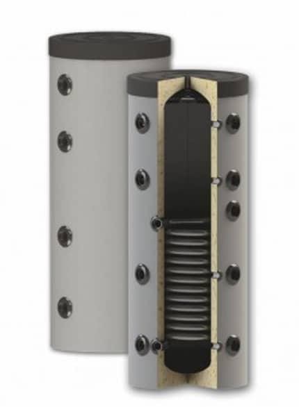 Rezervor de acumulare puffer pentru agent termic, cu o serpentina PS1 200L imagine fornello.ro