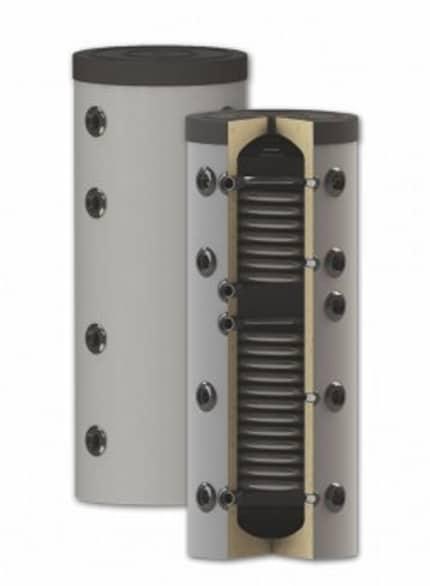 Rezervor de acumulare puffer pentru agent termic, cu doua serpentine PS2 150L imagine fornello.ro