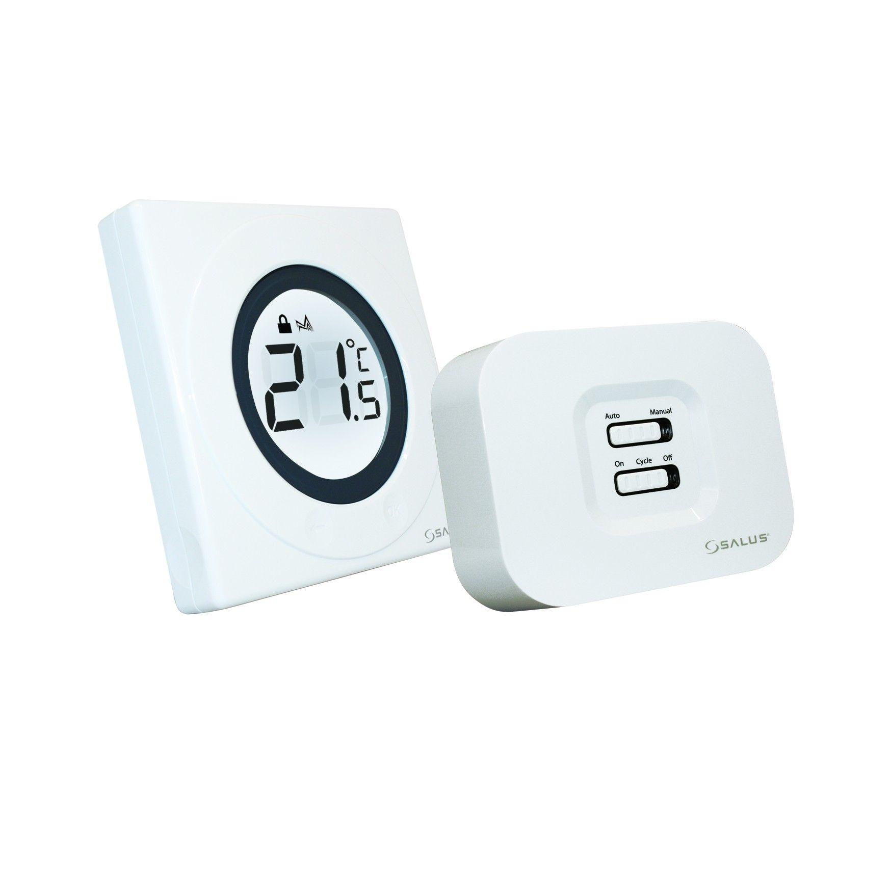 Termostat ambiental neprogramabil cu radio comanda Salus ST320RF, cu butoane tactile imagine fornello.ro