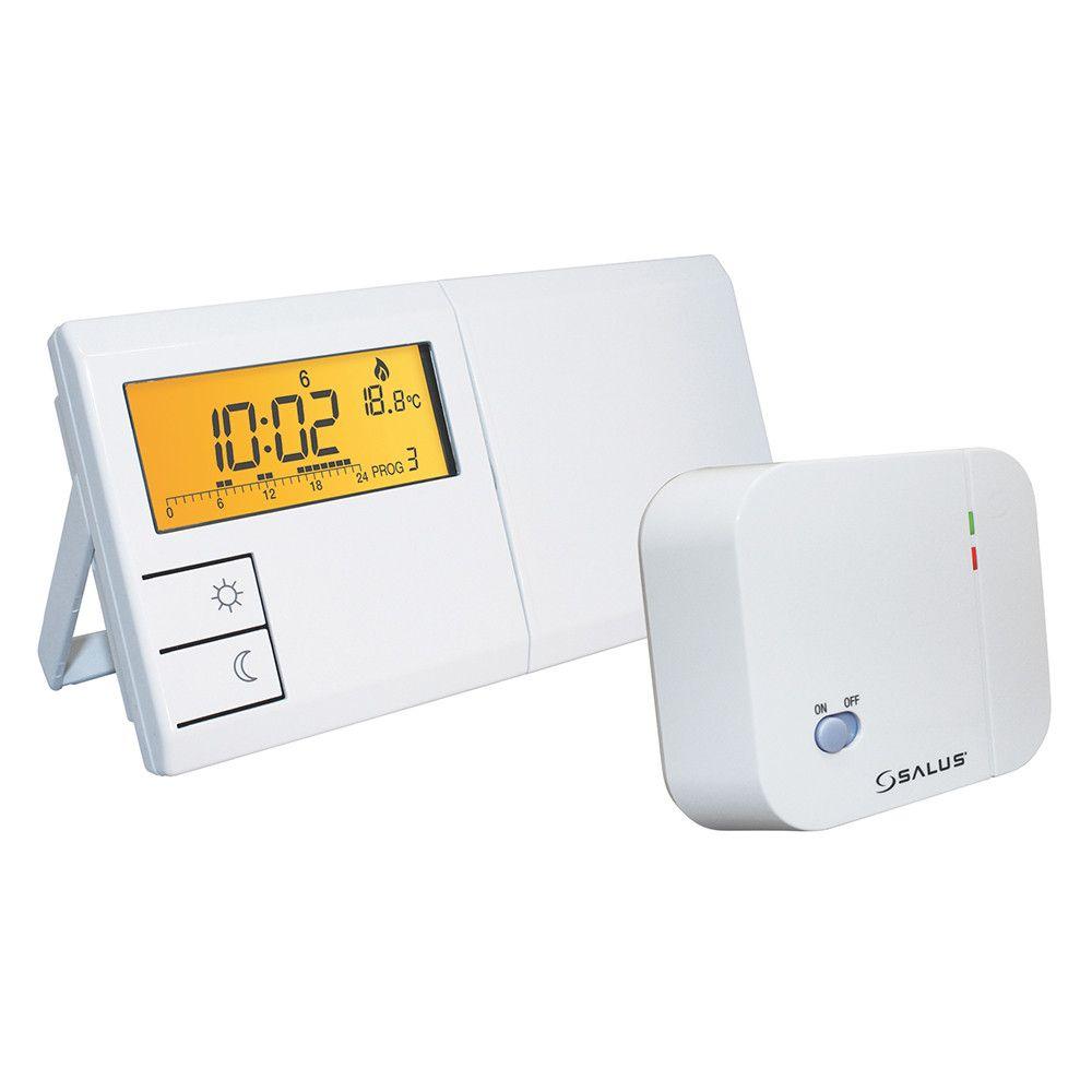 Termostat ambiental programabil Salus 091FLRF fara fir, comanda wireless, afisaj lcd, 9 programe, economie energie pana la 30%, 2 temperaturi, program anti-inghet imagine fornello.ro