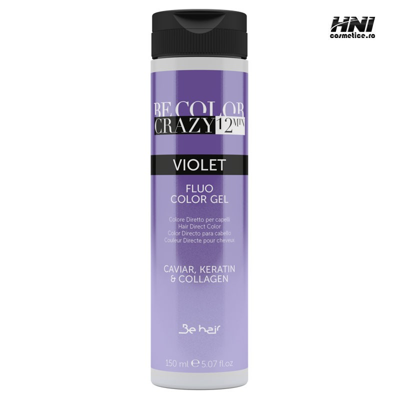 Vopsea de par Violet Tip Gel fara amoniac Be Color Crazy 12 min 150 ml