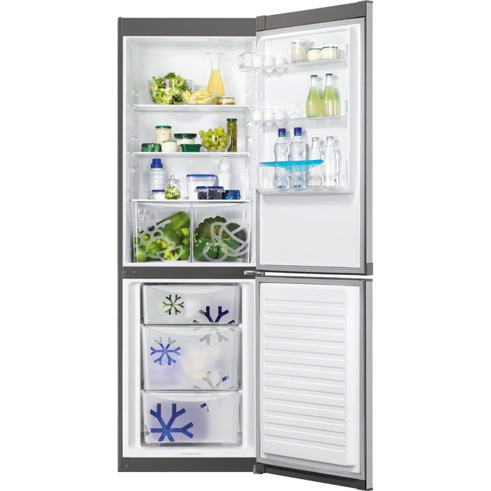 Combina frigorifica Zanussi ZRB36101XA, 337 L, A+, Usa inox antiamprenta