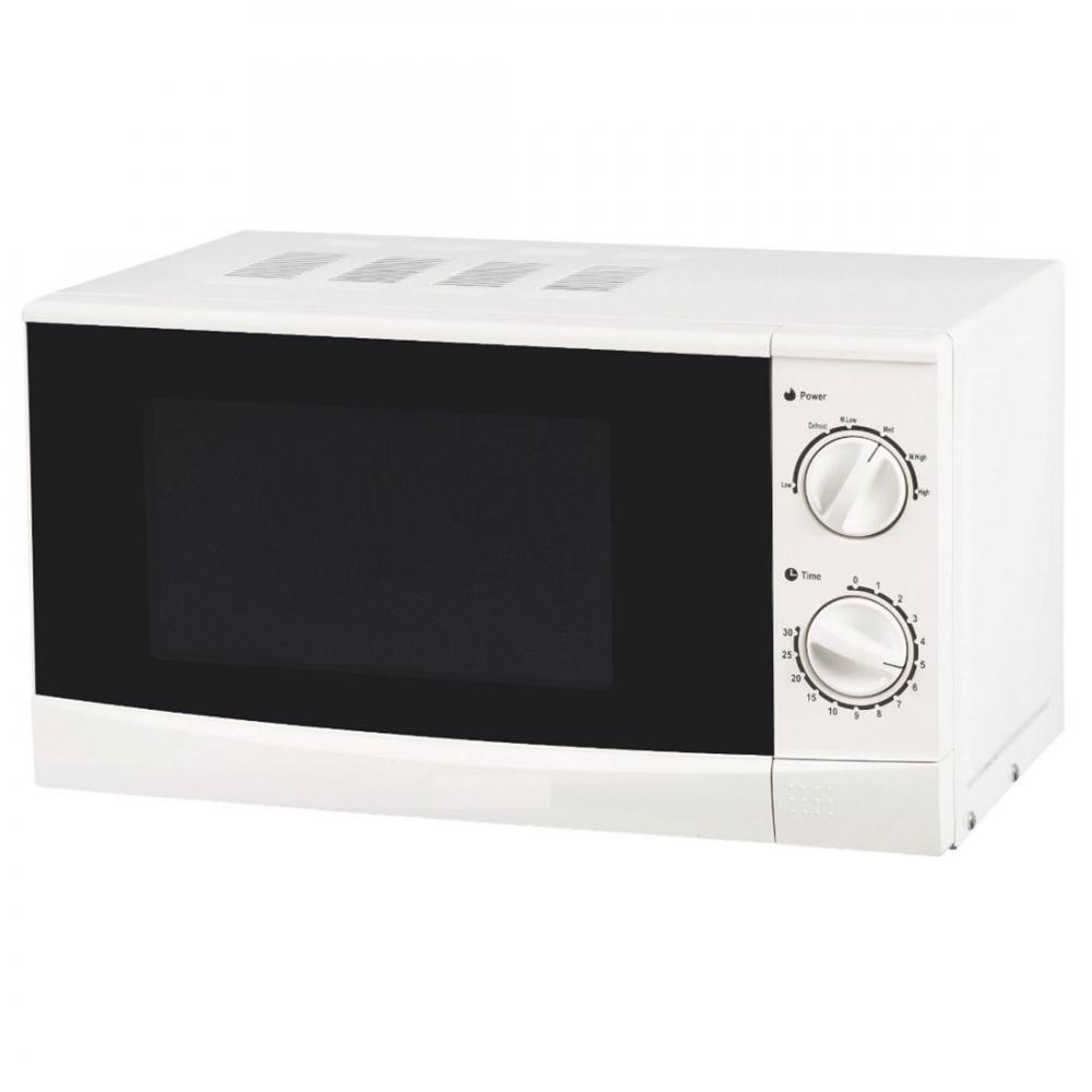 Cuptor cu microunde Heinner HMW-20MA, 20 l, 700 W, Timer, Mecanic, Alb