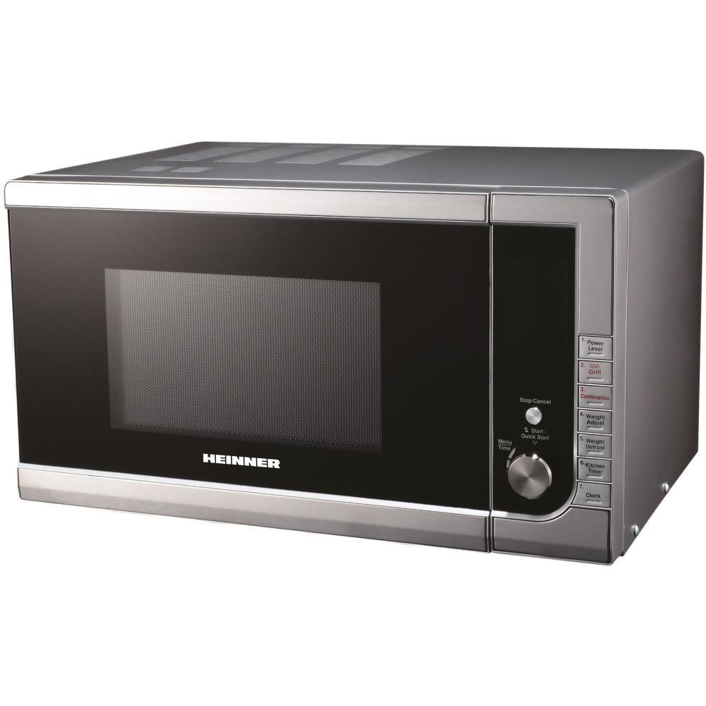Cuptor cu microunde Heinner HMW-23DIX, 23 l, 900 W, Timer, Grill, Touch Control, Inox