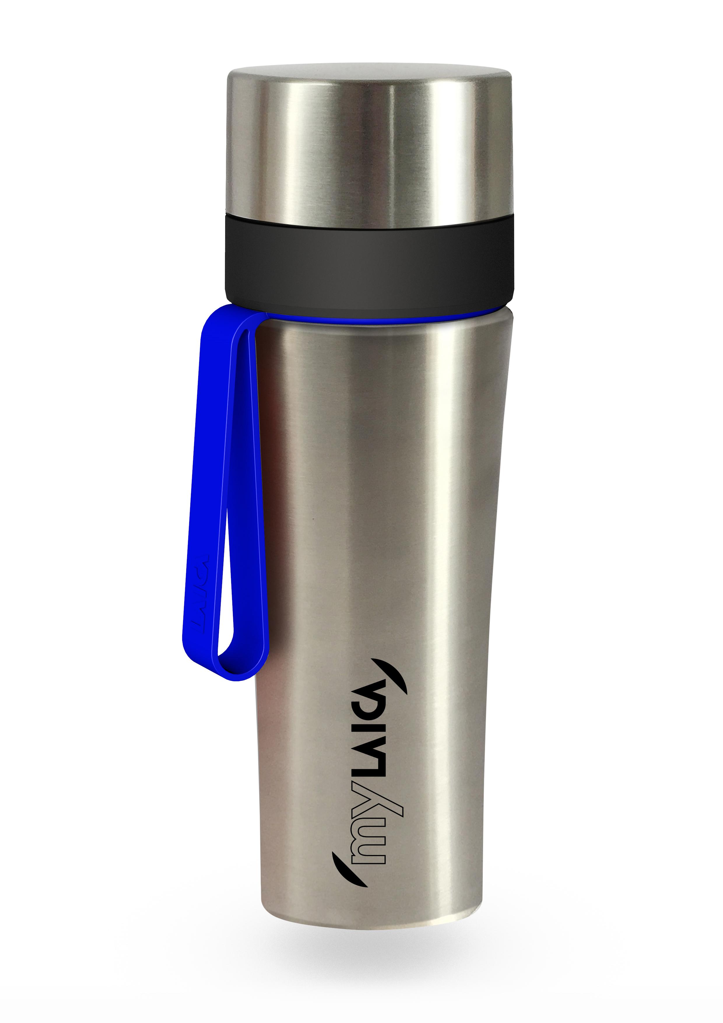 NOU: Sticlă filtrantă Sport myLaica, Inox, 0,55 litri, portabilă laicashop.ro 2021