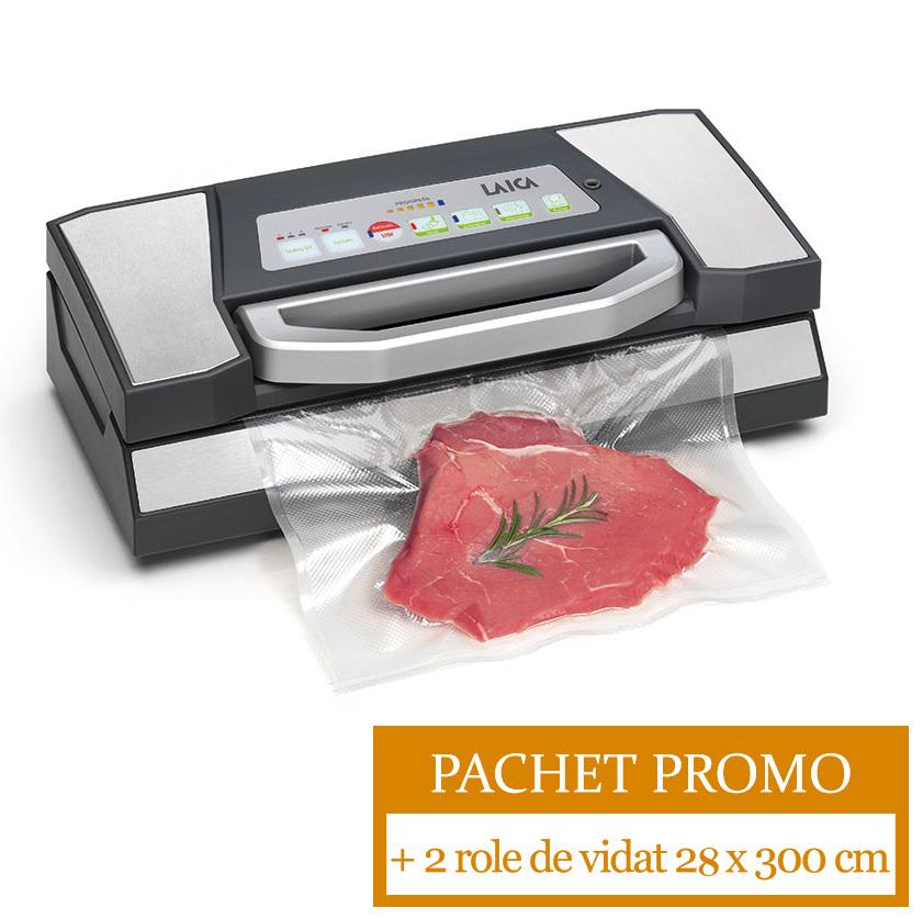 Pachet PROMO: Aparat de ambalare in vid Laica VT3225 + 2 role de vidat 28 x 300 cm laicashop.ro 2021