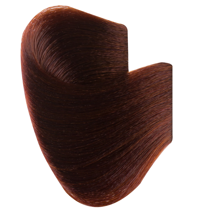Vopsea De Par Permanenta Glamour, Professional, Nuanta 5.4, Light Brown Copper, 120 Ml imagine produs