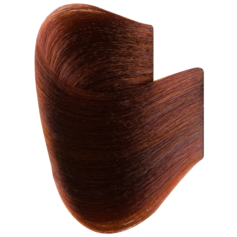 Vopsea De Par Permanenta Glamour, Professional, Nuanta 6.4, Dark Blonde Copper, 120 Ml imagine produs