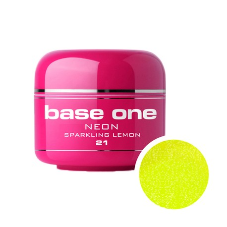 Gel Color Base One Neon Sparkling Lemon *21 5g imagine produs