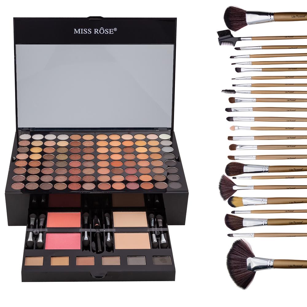 """Kit Makeup """"Like A Princess"""" Trusa Cu 190 Farduri Si Set 12 Pensule imagine"""