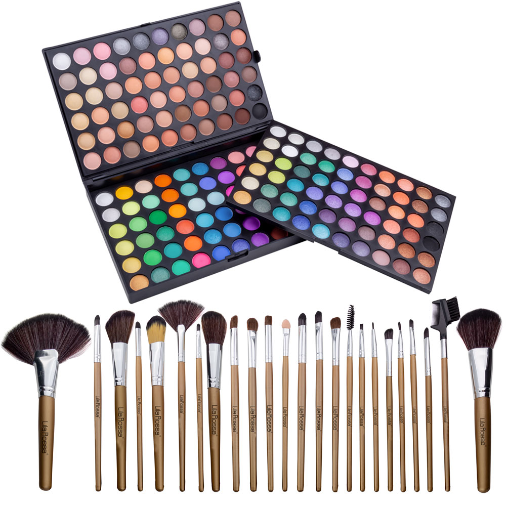 "Kit Makeup ""Fashion Icon"" Trusa Cu 180 Farduri Si Set 24 Pensule imagine"