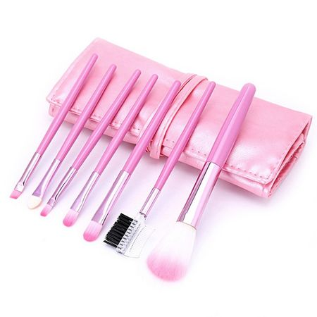 Set 7 Pensule Make-Up - Pink imagine produs