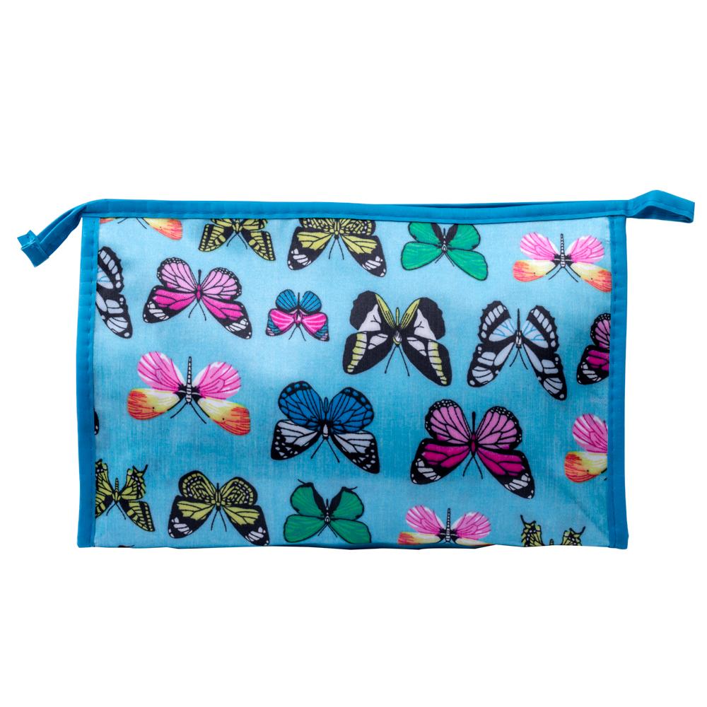 Portfard mare Butterfly - albastru
