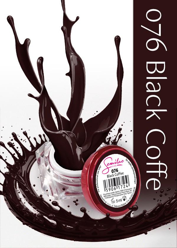 Gel Uv Color Semilac, Black Coffee 076 imagine produs