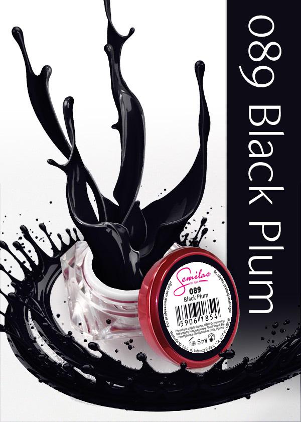 Gel Uv Color Semilac, Black Plum 089 imagine produs