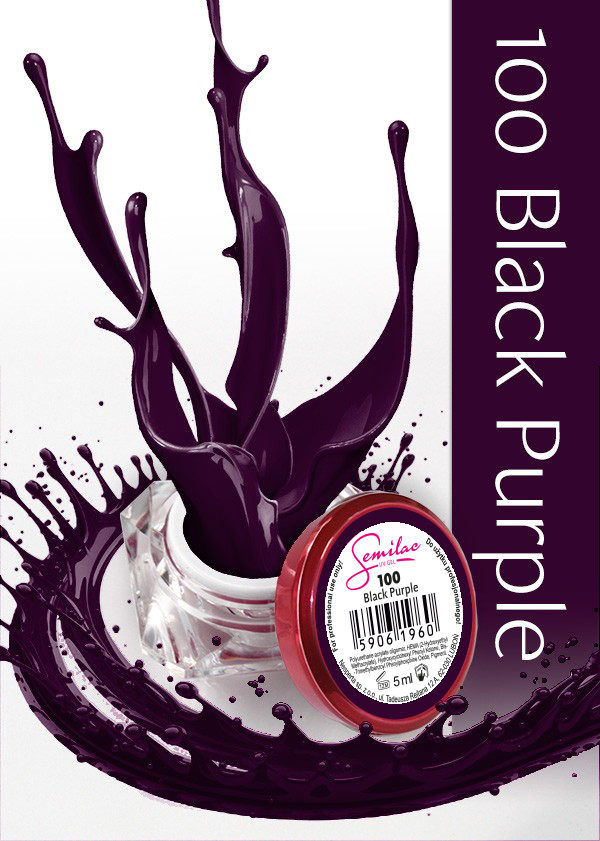 Gel Uv Color Semilac, Black Purple 100 imagine produs
