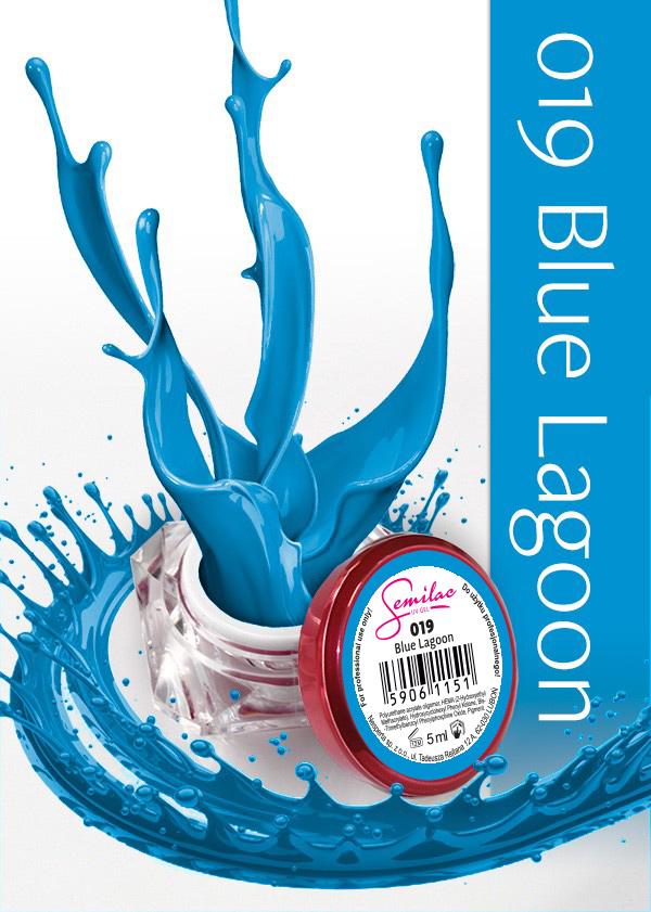Gel Uv Color Semilac, Blue Lagoon 019 imagine produs