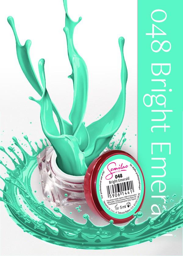 Gel Uv Color Semilac, Bright Esmerald 048 imagine produs